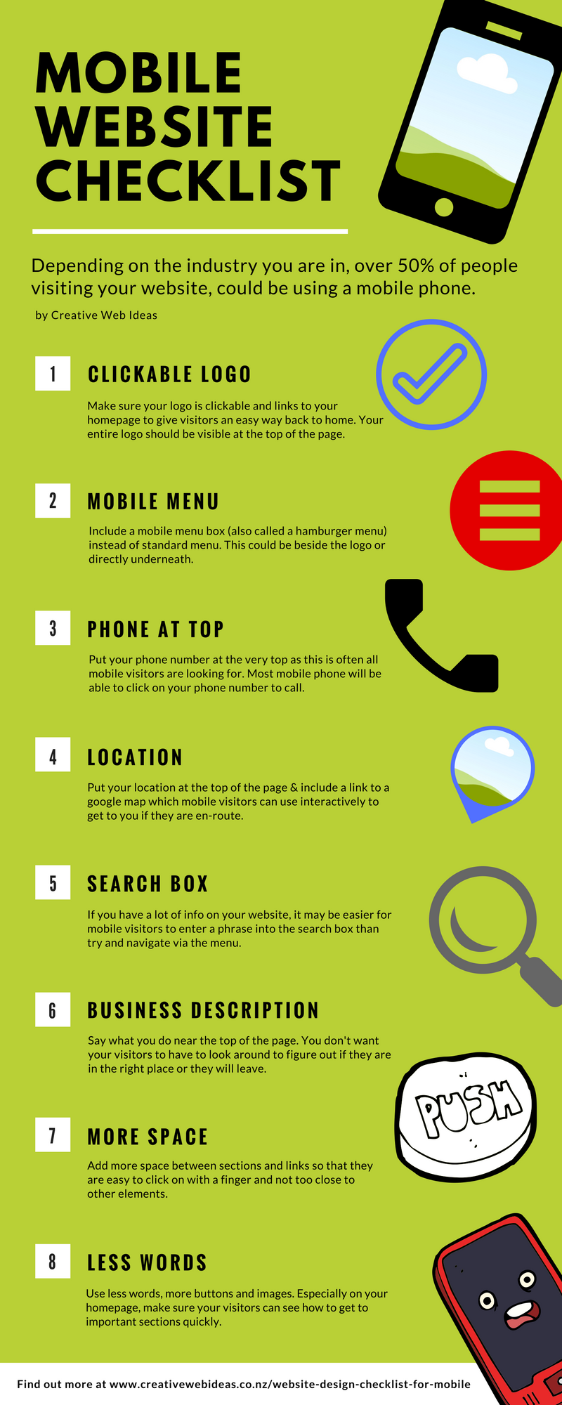 mobile website design checklist