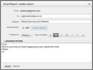 website analytics email report