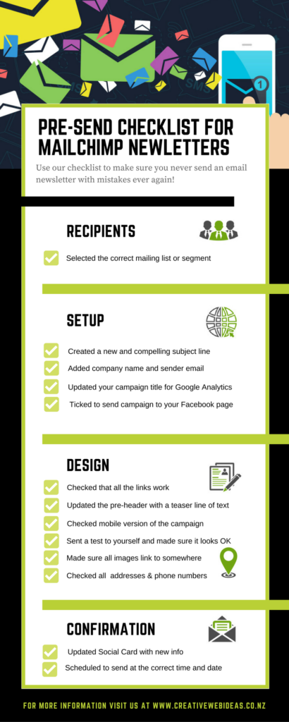email newsletter checklist