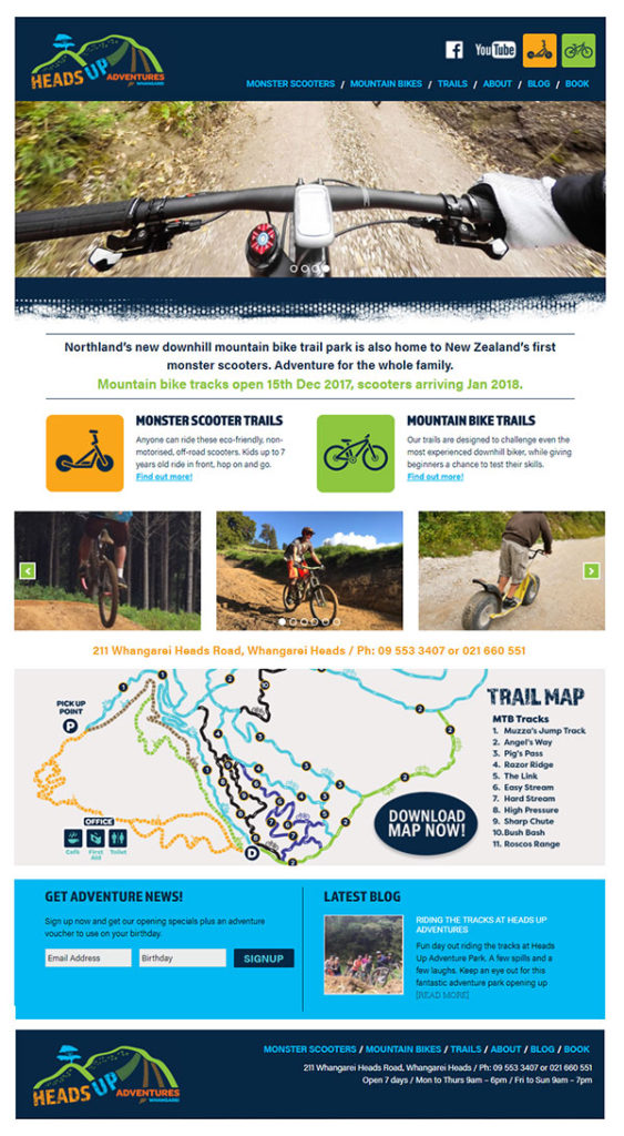 adventure website design by Creative Web Ideas