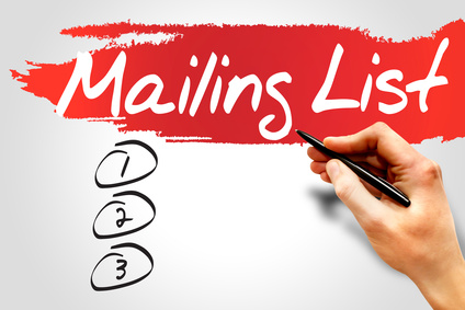Email Newsletters - Signup forms and database management