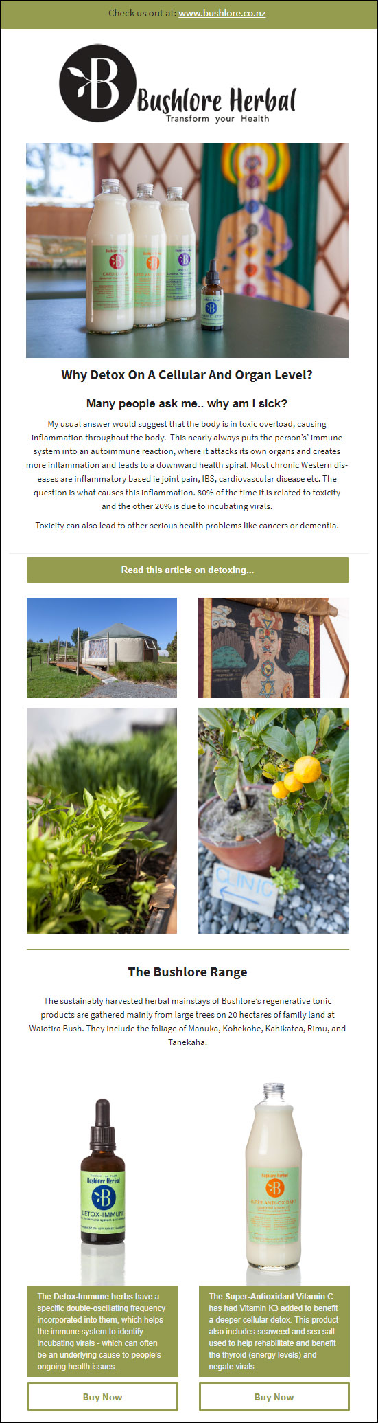 Bushlore email newsletter